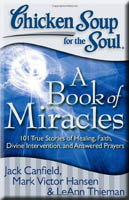 book cover: chicken soup: a book of miracles