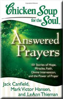 book cover: chicken soup: answered prayer