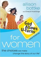 book cover: god allows u turns for women